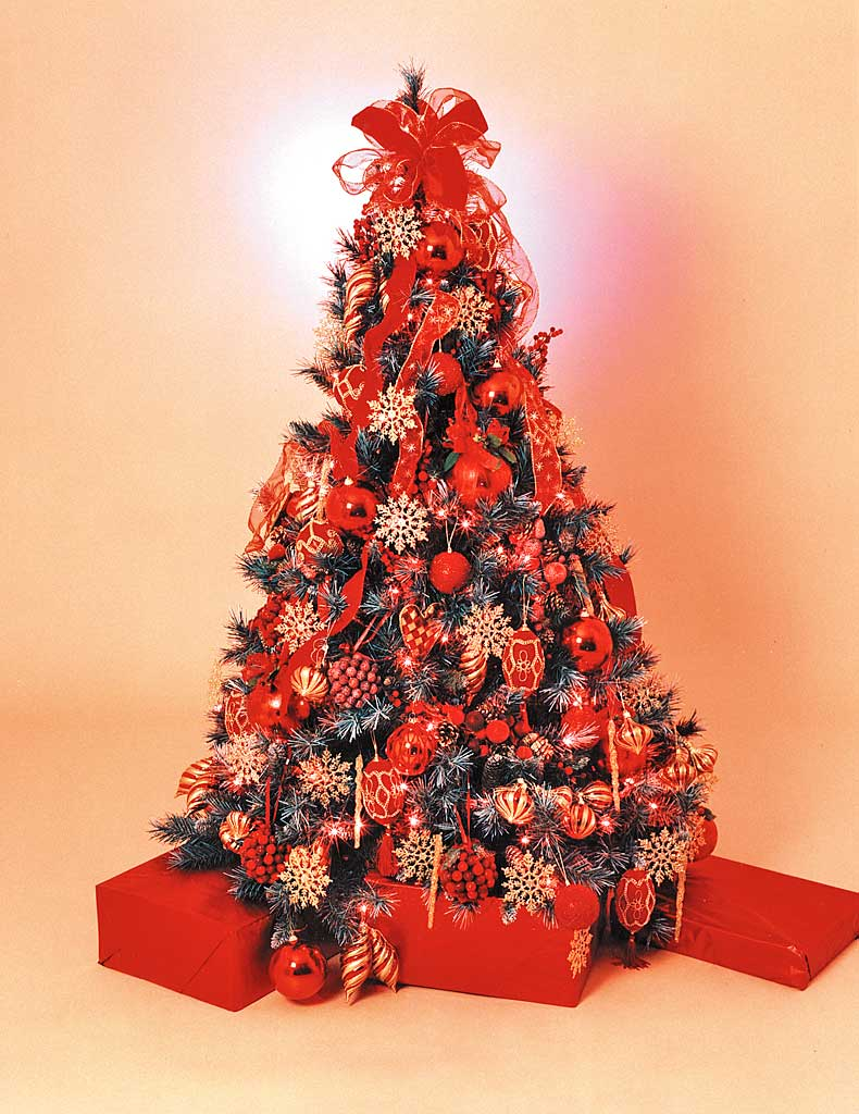 Christmas Tree Hire | Regal Red Style | Fully Decorated